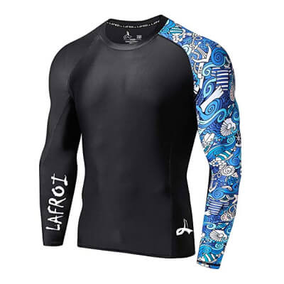 LAFROI Mens Long Sleeve UPF 50+ Baselayer Skins Performance Fit Compression Rash Guard-CLYYB