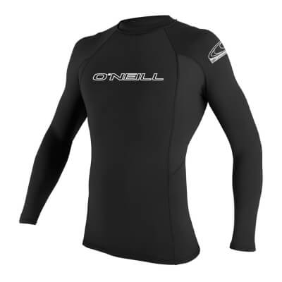 O'Neill Men's Basic Skins UPF 50+ Long Sleeve Rash Guard - Overall Best Diving Rash Guard