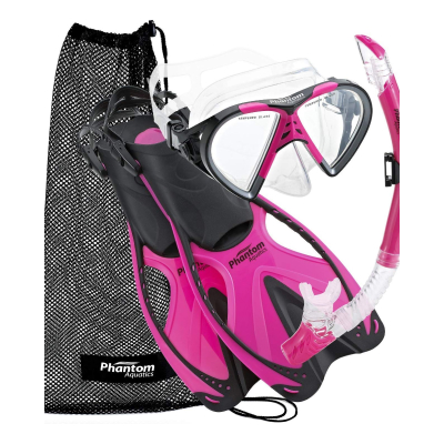 Phantom Aquatics Adult Speed Sport Mask Fin Snorkel Set1